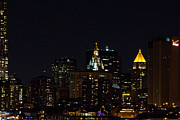 New York City Skyline Photos - New York City night time skyline NY by Susan Jensen