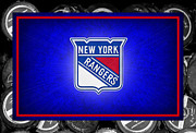 Puck Framed Prints - New York Rangers Framed Print by Joe Hamilton