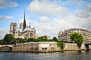 River View Photo Metal Prints - Notre Dame de Paris Metal Print by Elena Elisseeva