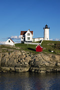 Nubble Lighthouse Prints - Nubble Lighthouse Print by John Greim