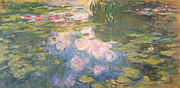 Waterlilies Framed Prints - Nympheas Framed Print by Claude Monet