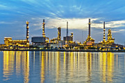 Pollute Framed Prints - Oil refinery Framed Print by Anek Suwannaphoom