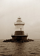York Beach Prints - Old Orchard Lighthouse Print by Skip Willits