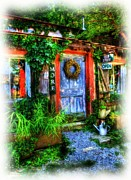 Small Towns Mixed Media Metal Prints - Old Stuff Metal Print by Mel Steinhauer
