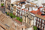 Rooftop Photos - Old Town of Seville in Spain by Artur Bogacki