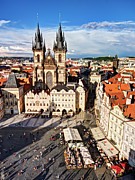 Old Town Square Photos - Old Town Square / Prague by Barry O Carroll