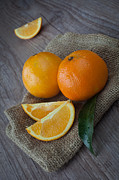 Tangerine Framed Prints - Orange fruit Framed Print by Sabino Parente