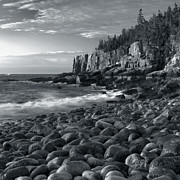 Maine Ocean Posters - Otter Cliffs Morning Poster by Stephen  Vecchiotti
