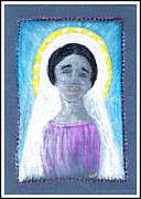 Virgin Mary Pastels Prints - Our Lady Print by Lyn Blore Dufty