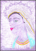Jesus Pastels Prints - Our Lady Mary Print by Lyn Blore Dufty