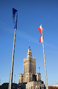 European Union Prints - Palace of Culture and Science in Warsaw Print by Artur Bogacki