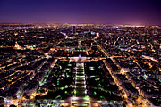 Illuminated Art - Paris panorama France at night by Michal Bednarek