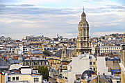 Historical Buildings Prints - Paris rooftops Print by Elena Elisseeva