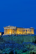 Parthenon Photos - Parthenon in Acropolis of Athens during dusk time by George Atsametakis