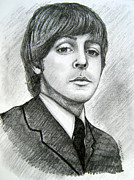 Ringo Drawings - Paul McCartney by Patrice Torrillo