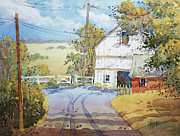 Farm Fields Paintings - Peaceful in Pennsylvania by Joyce Hicks