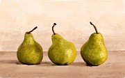 Pears Digital Art Framed Prints - 3 Pears Framed Print by Jiri Zraly
