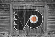 Puck Posters - Philadelphia Flyers Poster by Joe Hamilton