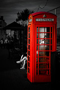 Crawley Framed Prints - Phone box Framed Print by Paul Stevens