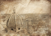 Italian Culture.italian Renaissance Prints - Piazza Del Duomo With Basilica Of Saint Print by Evgeny Kuklev
