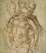 Christ Drawings - Pieta by Italian School