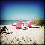 Florida Flowers Prints - Pink Beach Print by Chris Andruskiewicz