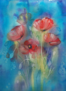 Poppies Print by Tania Vasylenko