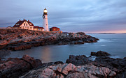 New England Lighthouse Prints - Portland Head Light Print by Patrick Downey
