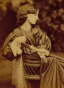 Portrait Of Jane Morris Print by John Parsons