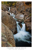 Poudre River Falls Fort Collins Print by Posters of Colorado