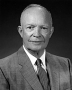 Ike Posters - President Dwight Eisenhower  Poster by War Is Hell Store