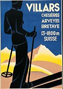 Skiing Poster Prints - Private Collection. Advertising Poster Print by Everett