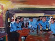 Cantina Paintings - Pueblo Viejo by Debra Chmelina