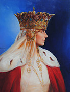 Duchess Painting Originals - Queen Marie of Romania by George Alexander