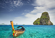 Phuket Prints - Railay beach Print by Anek Suwannaphoom