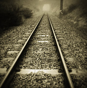 Outdoor Photography Posters - Railway tracks Poster by Les Cunliffe