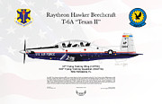 Usaf Framed Prints - Raytheon Hawker Beechcraft T-6A Texan II Framed Print by Arthur Eggers
