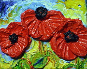 Paris Wyatt Llanso Metal Prints - Red Poppies Metal Print by Paris Wyatt Llanso