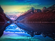 Tara Turner Framed Prints - Reflections at Lake Louise Framed Print by Tara Turner