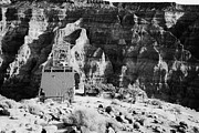 Tram Prints - remains of old tramway headhouse for the mine at guano point Grand Canyon west arizona usa Print by Joe Fox