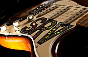 Mickey Mantle Photos - Replica Stevie Ray Vaughn Electric Guitar Artistic by Jani Bryson
