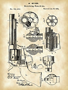Bullet Prints - Revolving Fire Arm Patent Print by Stephen Younts