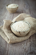 Wooden Bowl Photos - Rice by Sabino Parente