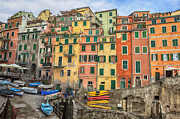 Europe Photo Framed Prints - Riomaggiore Framed Print by Joana Kruse