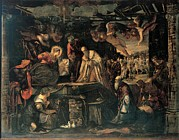Adoration Photo Prints - Robusti Jacopo Known As Tintoretto, The Print by Everett