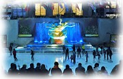 Hallmark Photos - Rockefeller Center Skating Rink by Allen Beatty
