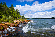 Bay Photos - Rocky shore of Georgian Bay by Elena Elisseeva