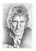 Rock Drawings - Roger Waters of Pink Floyd by Liz Molnar
