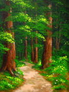 Serenity Landscapes Paintings - Rogue  Path by Shasta Eone