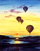 Image  Paintings - Romantic Flight by John YATO